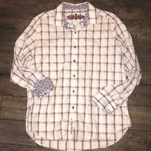 Robert Graham long sleeve button up shirt. XL
